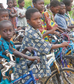 children & bicycles