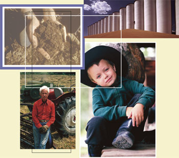 Collage of four images, part of the cover artwork for the April 2004 Sound Consumer