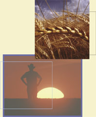 Collage of two images, part of the cover artwork for the April 2004 Sound Consumer