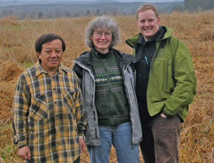 The farmers: Fong Cha, Michaele Blakely and Andrew Stout.
