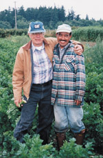 Two farm workers