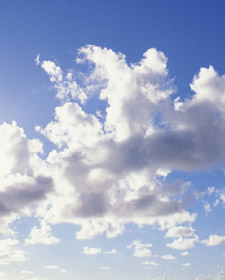 Clouds representing the clean air produced by following the LEED Constructio Indoor Air Quality Plan.