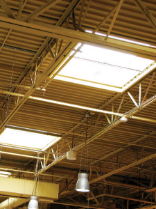 Skylights at the Redmond PCC store.