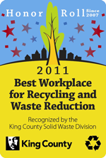 2011 Best Workplace for Recycling and Waste Reduction