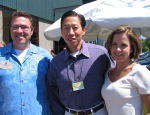 Board member Stephen Tan (center), with Tony's Coffees Sales Manager Darryl Miller and PCC member Kelly Stiger.