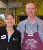 PCC Board member Linnea Noreen chatted with interim store director Mike Germundson