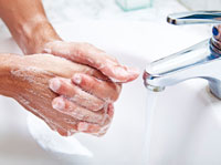 washing hands