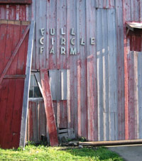 Barn door at Full Circle Farm.