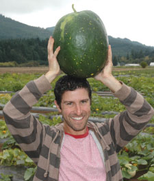 Man with watermelon
