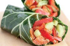 veggie collard wrap