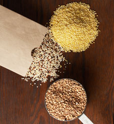 quinoa, millet and buckwheat