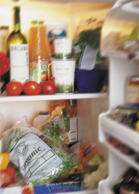 Contents inside a refrigerator