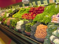 Produce aisle at our Fremont PCC store.