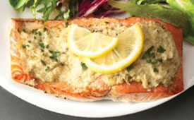 artichoke lemon pesto salmon
