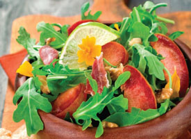 Arugula, Plum and Prosciutto Salad