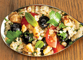 blueberry bulgur salad