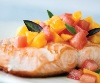 salmon & fruit salsa