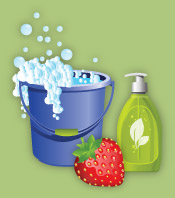 cleaning supplies graphic