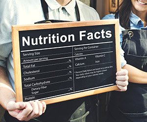 nutrition facts in restaurants