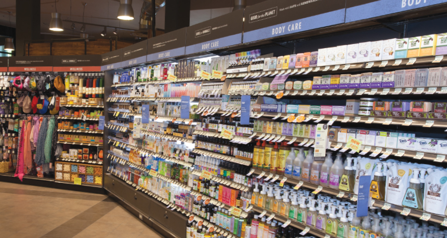 Health and body care aisle at PCC Natural Markets