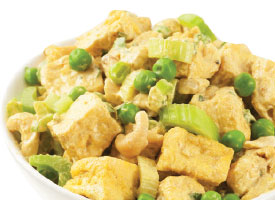 curried tofu cashew salad