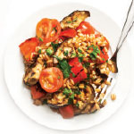 grilled eggplant with farro