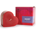 heart pillar candle