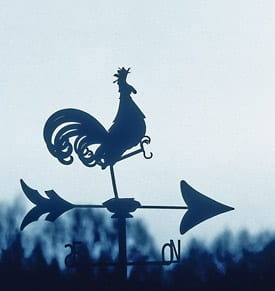 Image of a weather vane, cover artwork for the January 2005 Sound Consumer