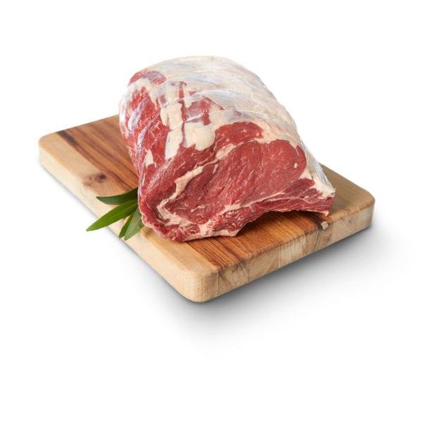 rib roast on cutting board