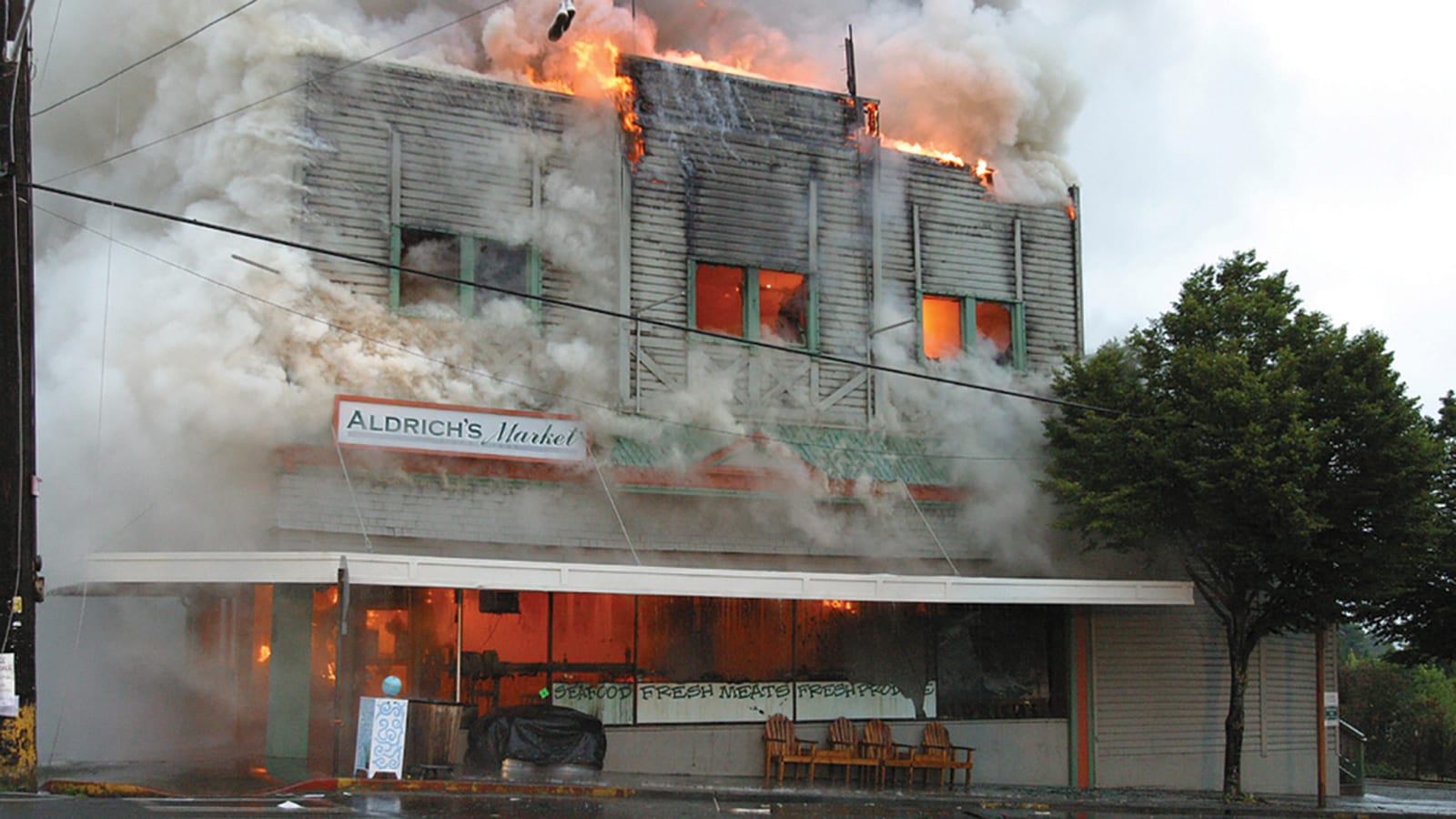 2003 fire at Abundant Life Seed Foundation in Port Townsend, Washington