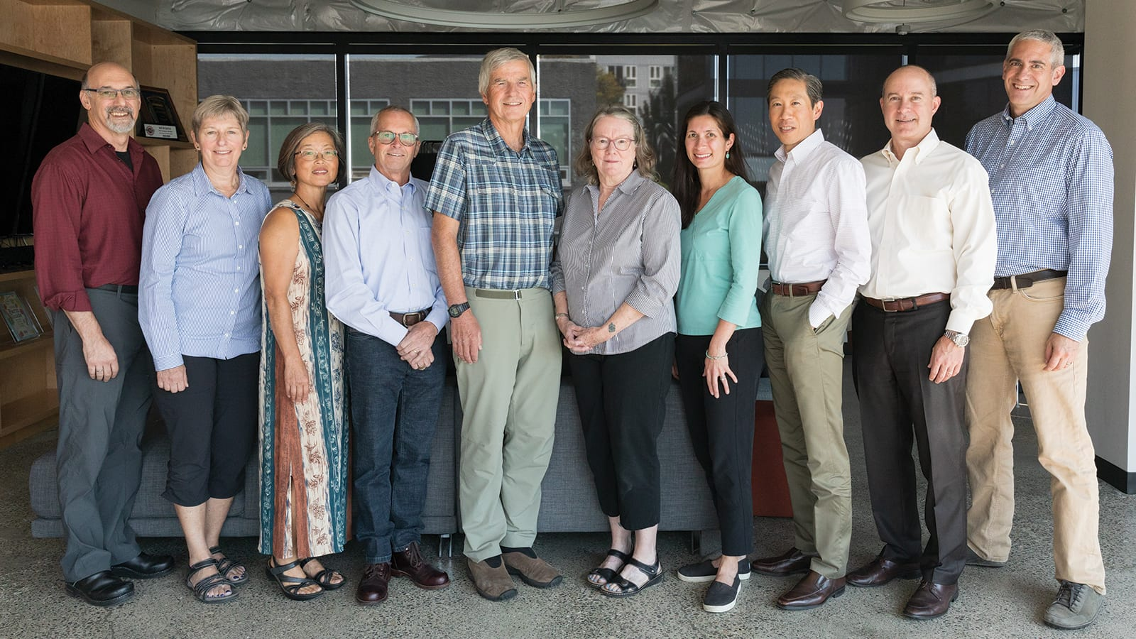 2018 PCC Board of Trustees (pictured left to right); Sandy Voit, Catherine Walker, Alice Cho Snyder, Brad Brown, Bruce Williams, Elin Smith, Tania DePue, Stephen Tan, Michael Hutchings, Ben Klasky.