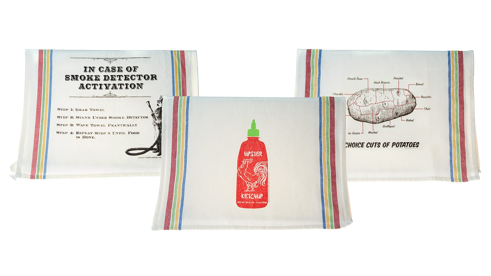 Sunday Drive Designs assorted tea towels.