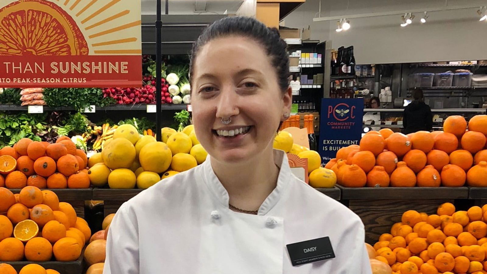 Daisy Beagle, Deli Helper Clerk at View Ridge PCC is PCC's March 2019 Customer Service Star.