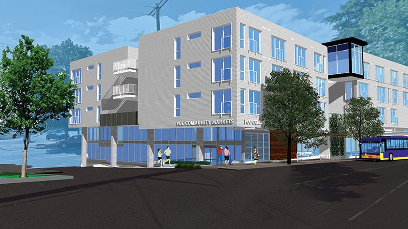 Rendering of the New West Seattle PCC store.