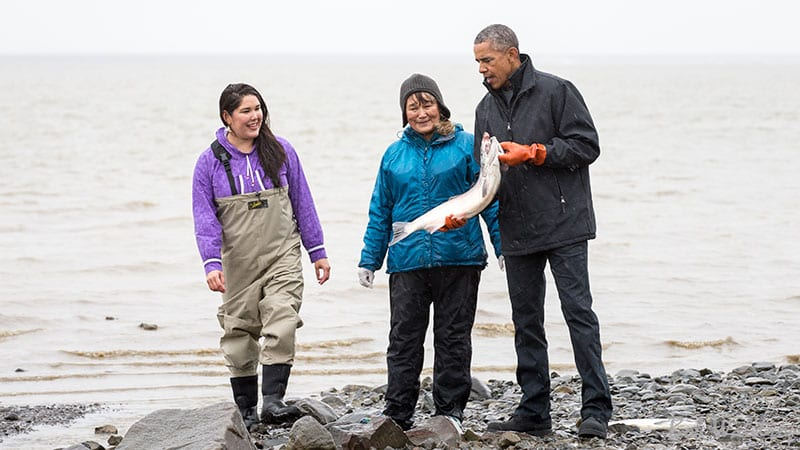 In 2015 then-President Barack Obama visited the Bristol Bay fishery. Photo by Bob Waldrop.