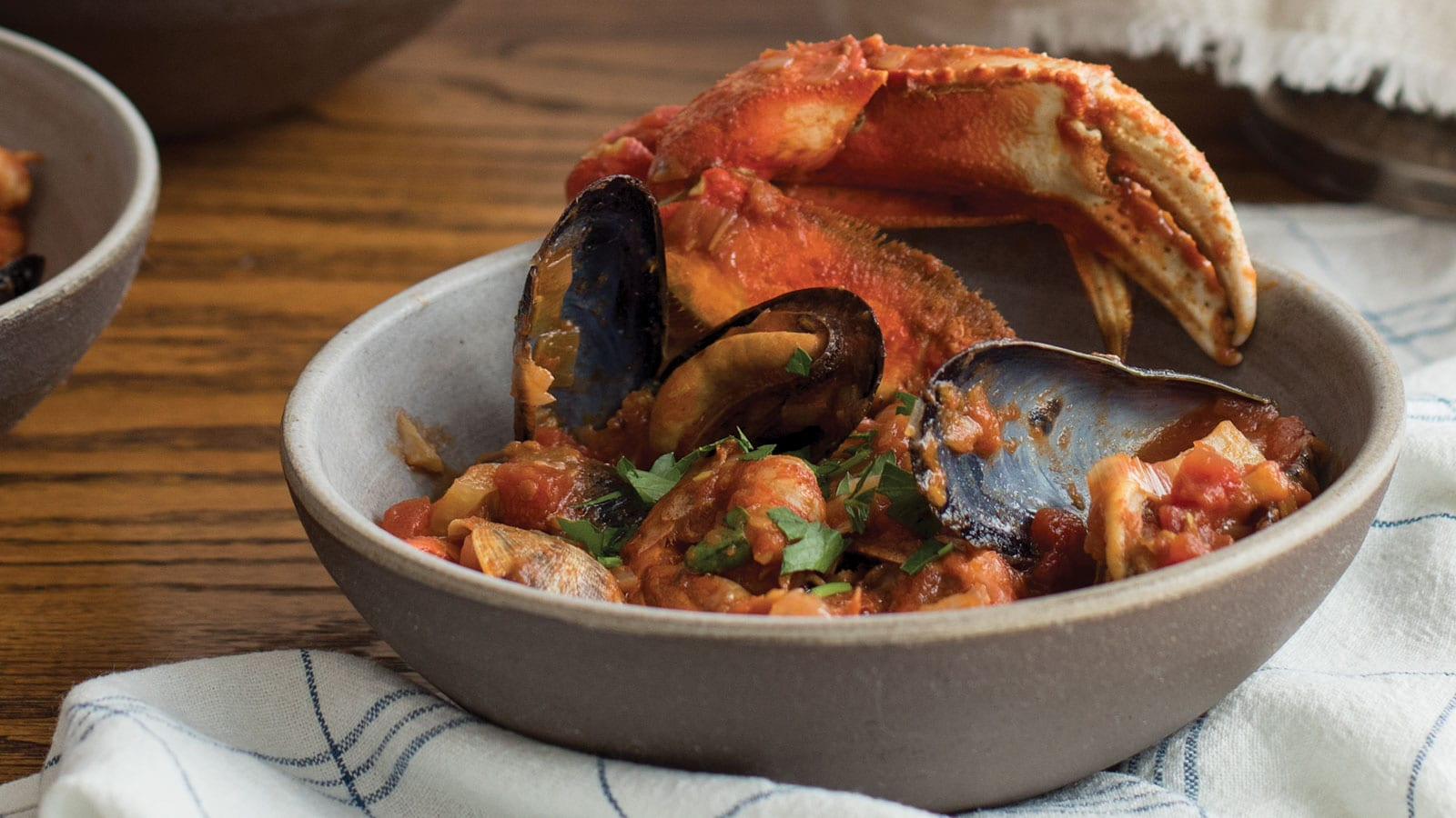 "Cioppino from Naomi Tomky's cookbook ""The Pacific Northwest Seafood Cookbook."" Photo by Celeste Noche."