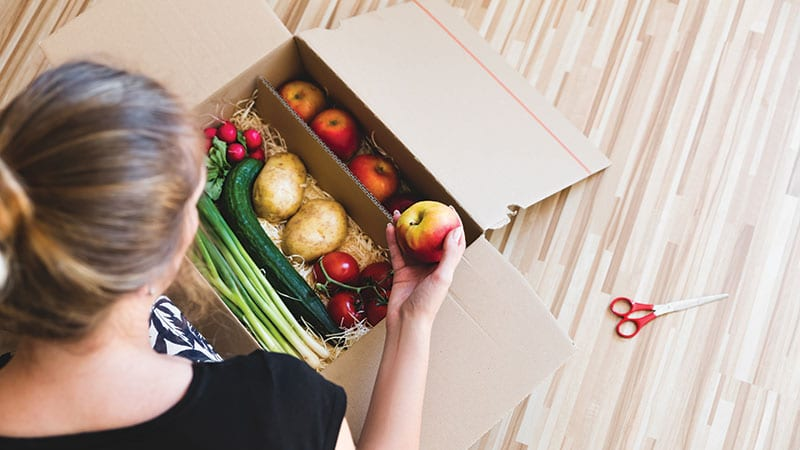 Fresh vegetables delivery box
